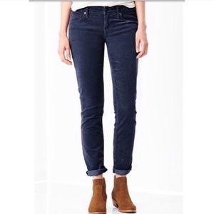 Gap 1969 Blue Corduroy Legging Jeans  Sz 27